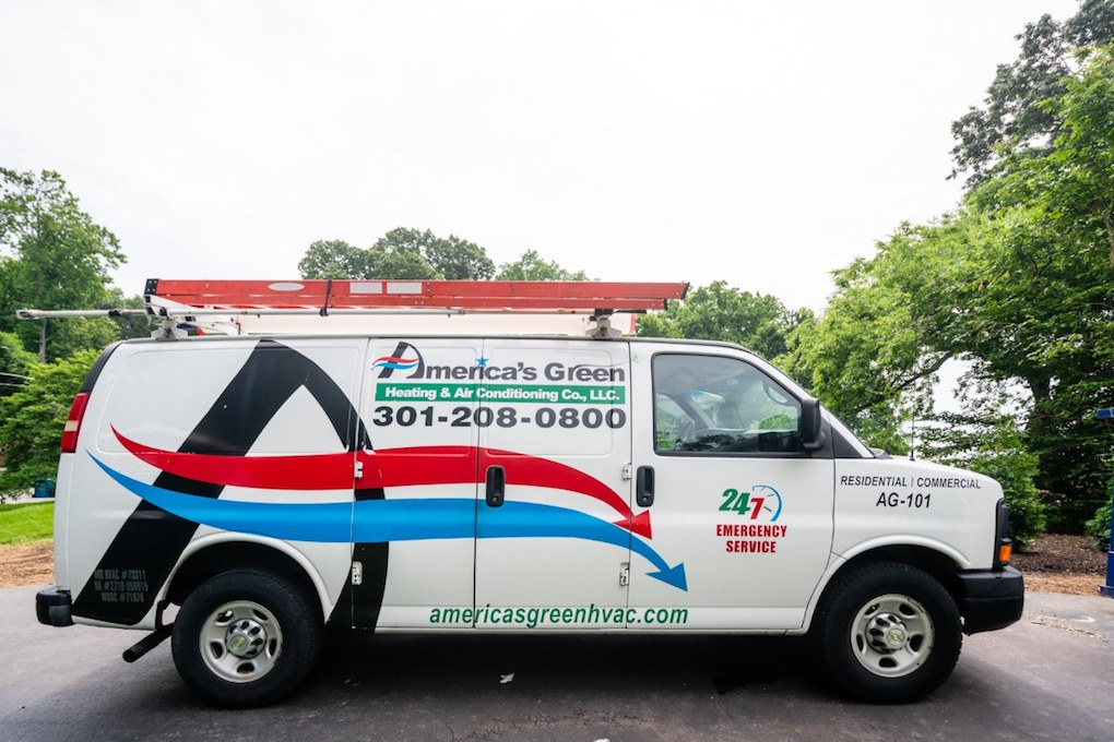 America's Green Heating and Air Conditioning Company truck